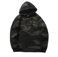 Mens Hoodies High Street Style Hip Hop Oversize Camouflage S...