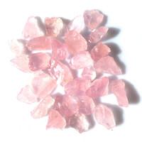 Natürliche rohe rosa Rosenquarz Kristall Stein Feng Shui Mineralien Aquarium Stein Dekoration Großhandel frei