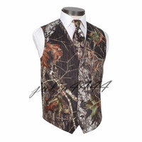 2019 New V Neck Camo Mens Wedding Vests Outerwear Groom Vest...