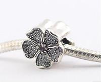 Pandora Espumante Cz Pave Apple Blossom Encantos 925 sterling silver solto beads para pulseira de fio fashon jóias autêntico