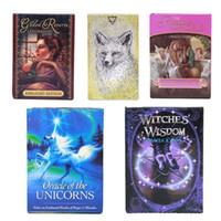 2020 Новые стили Английский Oracle Cards 101 * 74mm Unicorns Ленорманд Ведьмы Животные Духи Таро Карты Настольные Игры Игрушки L505