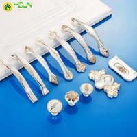2 pezzi Pomoli per mobili Europeo Maniglie per mobili Manopole in porcellana Maniglie per cassetti Maniglie per porte in argento