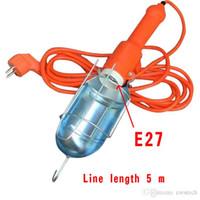 crestech luz de trabalho com fio portátil, luz de trabalho de cabo de mão, comprimento de linha 5m lâmpada de barraca, luzes de pesca, lanterna