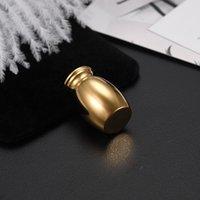N014 لون الذهب فارغة البسيطة urn الفولاذ المقاوم للصدأ حرق مجوهرات الجنازة urns النعش، حر ملء كيت و هدية مربع