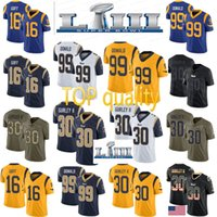 070117be0 2019 Super Bowl Rams 30 Todd Gurley 16 Jared Goff Jersey 5 Nick Foles rams  99 Aaron Donald Jerseys free shipping cheap sale 01