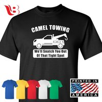 67f77f7e New Arrival. Camel Towing Comic Shirt Cool Gift College Rude Shirt Tow  Truck Fun Adult Tee