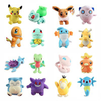 16 Style 15-20cm Mudkip Torchic Charmander Bulbasaur Jigglypuff Eevee Psyduck Snorlax Pikachu Horsea Gengar Peluche Bambola giocattolo all'ingrosso
