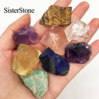 8 stücke Natürliche Quarz Kristall Raue Edelsteine und Mineralien Heilung Rohsteine als Geschenk T200117