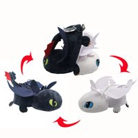 EMS Sdentato Dragon Light Fury Night Fury Inside-Out 33 CM Peluche Bambola Cuscino Farcito Best Gift Soft Toy