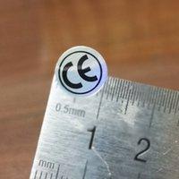 50000 adet / grubu CE etiketi çıkartmalar, Ürün No FA01 Avrupa Belgesi ürünleri için hologram etkisi değişen düz renk