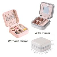 Portable jewelry case packing PU Leather Jewelry Box Makeup ...
