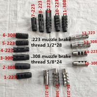 .223 .308 Airsoft Acciaio e freno di museruola in acciaio inox + rondella di schiacciamento