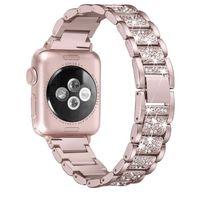 Для Apple Watch band 40мм 44мм 38мм 42мм женщины Diamond Band для Apple Watch серии 4 3 2 1 iWatch браслет из нержавеющей стали ремешок