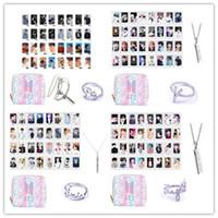 BTS Gift Collection 32 Pcs Cartão BTS Cartão Lomo com Gradiente Bonito Carteira, Colar e Anel de Dedo