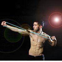 Zasoby amerykańskie, G 8-słowo ciągnąc linę Ekspansja klatki piersiowej Plastikowa ekspres do piersiowa Yoga Guma Band Milk Chest Expander z elastycznym łańcuchem FY7052