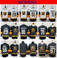 Womens Vegas Ouro Cavaleiros 29 Marc-Andre Fleury 81 Marchessault 71 William Karlsson 67 Max Pacioretty Haula Camisola De Hóquei Camisa Costurada