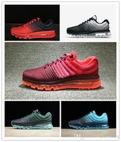 2017 Mens Running Shoes Black White Red Green Top Quality Cu...