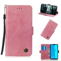 Flip Stand For Huawei Y9 2019 Case Pure Retro Leather Cover ...