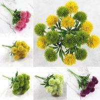 Flores decorativas Tallo Una sola mesa de boda Centros de DHL WX9-1687 Diente de león Diente de león flores artificiales partido de la flor de plástico
