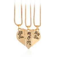Mutter Tochter Halskette Geschenk Big Sis Lil Sis Mom Gebrochenes Herz Puzzle Halskette Set Herz Halskette