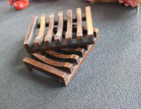 Madeira Sabão Natural Titular Multi-purpose Kitchen Sponge Rag Container prateleira pratos sabão de banho Duche Armazenamento Suporte CFYZ3292Q