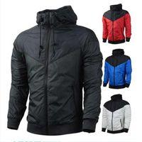 Sıcak Erkek Ceket Yeni Şık Erkekler Ince Rahat Ceket Bahar Sonbahar Windrunner Ceketler Ceket Spor Rüzgarlık Erkek için