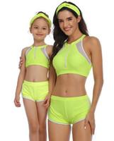 Top bons sport filles maillots de bain européen entre parents et enfants américains femmes enfants yakuda sexy style souple séparé corps conjoint