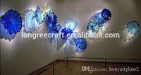 2019 Стиль Art Glass Decor настенных тарелок современного искусство декор выдувных муранское стекло сшитая Настенная Декор стекло Бра