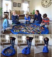 alfombra de juego nuevo bebé colorido 150 / 45cm de juego bolsa de almacenamiento de juguete esteras bolsa de almacenamiento de juguetes Manta portátil Cajas Rug juega al organizador