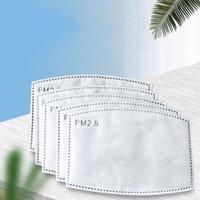 Ağız Maskesi için 100 adet PM2.5 maskesi filtresi 5 Katmanlar yüz maskesi Aktif karbon filtresi takın Koruyucu Filtre Ekle
