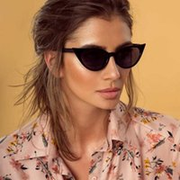 2019 Fashion Cute Sexy Ladies Cat Eye Occhiali da sole da donna vintage di marca piccoli occhiali da sole neri Oculos De Sol Z075 femminile