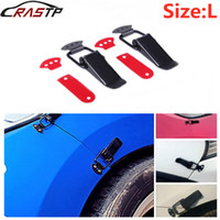 RASTP-2Pcs Auto Universal Pare-chocs Crochet de sécurité clip Kit de verrouillage clip HASP Racing capot camion voiture Quick Release Fixations RS-ENL007
