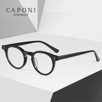 여성 J6512를 들어 CAPONI 클래식 라운드 안경 프레임 남성 2020 새로운 유행 안경 남성 레트로 타원형 투명 광학 안경 프레임