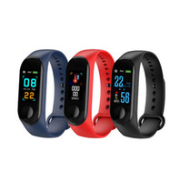 M3 banda 3 Pulsera inteligente Fitness tracker Pulsera impermeable bluetooth smartwatch LED Mensaje monitor pulsera inteligente
