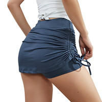 EC.MS Women's Tennis Skirts Sports Running Workout Golf Skorts Stretch Adjustable Drawstring Skort Mini Dresses with Leggings