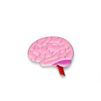 Brain Pins Pink Enamel Lapel Medical Badges for Jackets Men ...