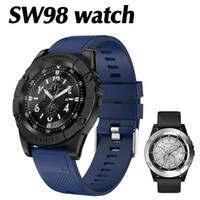Android, Apple Akıllı Telefonlar için Kamera SIM Kart Yuvası TF Kart ile SW98 Akıllı İzle Bluetooth Smartwatches Spor Tracker Akıllı Bilezik