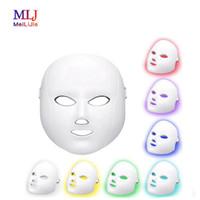2019 colore libero di trasporto 7 LED del viso maschera di bellezza di ringiovanimento della pelle Macchina strumento per la casa e il salone