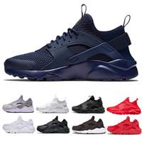 싸구려 새로운 디자이너 Huarache 울트라 러너 남자 신발 운동 화 검은 색 백인 남자 스포츠 디자이너 신발 36-45 무료 배송