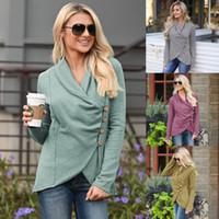 Womens Coats Giacche Autunno Inverno Nuovo casuale Tops donna irregolare moda allentato Streetwear femminili rientra Felpe Abbigliamento