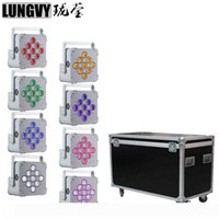 8pcs lot With Flight Case 9x18w RGBWA UV 6IN1 Battery Powered Wireless DMX Stage Light Led Par Light Uplight