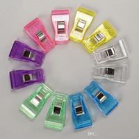 Mischfarben-Kunststoff-Clip Halter für DIY Gewebe-nähende Fertigkeit Knitting Tragbarer Transparenter Beutel Clips Mode handgemachte Zusätze BH2254 CY