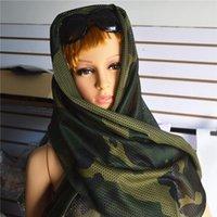 Camouflage Tactical Sciarpe 160 * 50cm creativo Sciarpa Estiva campeggio d'escursione esterno maschere fascia Cycling Sport Sciarpe TTA2031-1