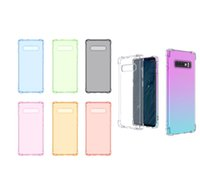 Silicone Gel Cover For Iphone XR XS MAX X 8 7 6 Galaxy S10 S10e Plus Note 9 8 S9 Higbin Four Corner Colorful Silicone Gel Cover