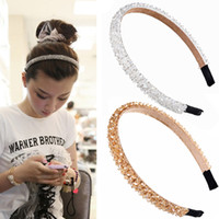 M MISM Shiny Wide Side Beads Colorful Hair Bands Cute Headba...