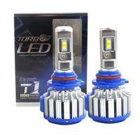 10 Unids Turbo T1 Car LED Faros 70W 18000Lm H1 H7 H4 Hi / Lo H8 H11 H9 9005 HB3 9006 HB4 9007 H3 Bombilla de luz antiniebla Coche Auto 6000K