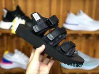 Sandalias de calidad superior a SUICOKE MOTO VS CAB KAW 18ss Para Hombres Mujeres Moda CLOT Slide Negro Rojo deslizadores de la sandalia c09