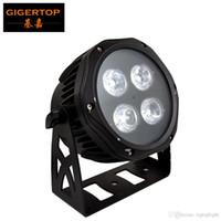Gigertop TP-P117 New Mini 4 x 18W RGBWA UV 6in1 Cor Lâmpada PAR LED impermeável IP65 Outdoor Projeto DMX Controle Iluminação Cénica