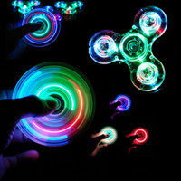 Lumina LED LIGHT Fidget Spinner Hand Top Spinners Resplandor En Luz Oscura EDC Fignet Spinder Dedo Estriezca Alivio Juguetes.