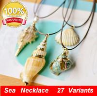Ciprea Girocollo Collana per le donne Puka Shell Collana filo Seashell collana hawaiana Beach Gioielli acc086 Conch Pendant